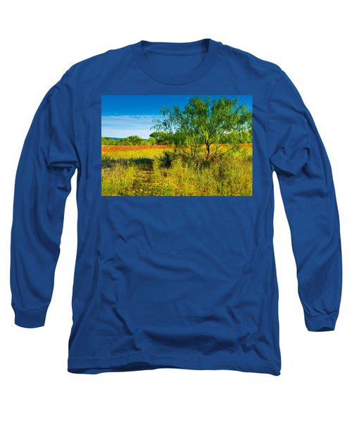 Texas Hill Country Wildflowers Long Sleeve T-Shirt