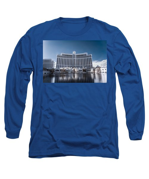 The Bellagio Hotel And Casino In Infrared Long Sleeve T-Shirt