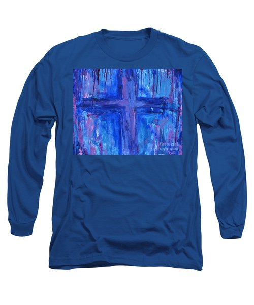 Long Sleeve T-Shirt featuring the painting The Crossroads #2 by Roz Abellera Art