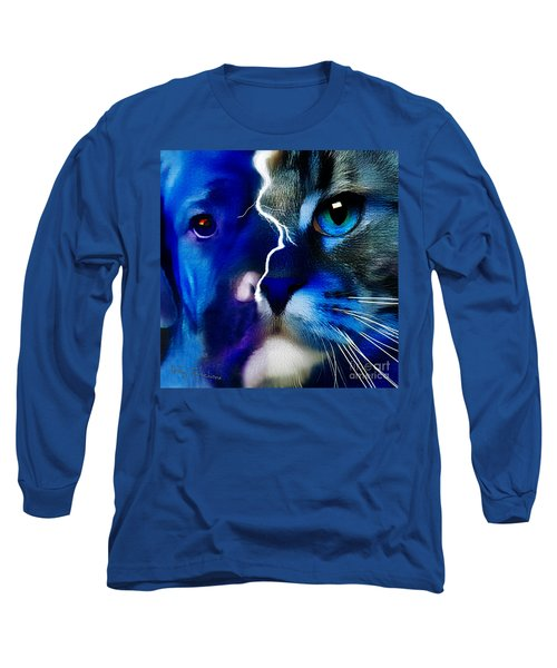 Long Sleeve T-Shirt featuring the digital art We All Connect by Kathy Tarochione
