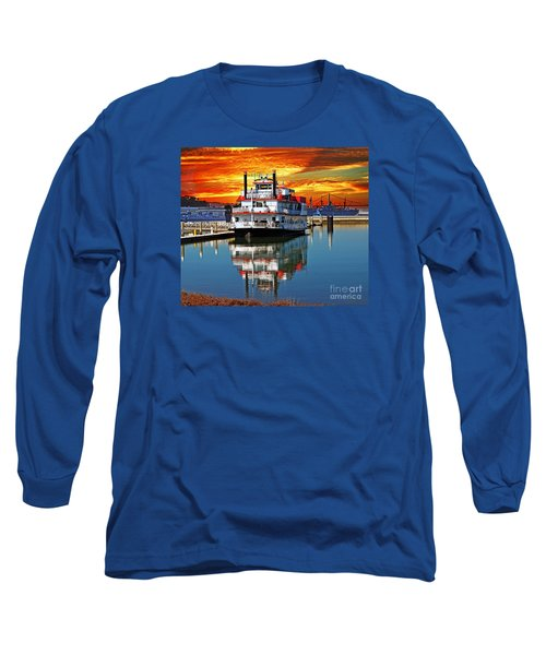 The End Of A Beautiful Day In The San Francisco Bay Long Sleeve T-Shirt by Jim Fitzpatrick