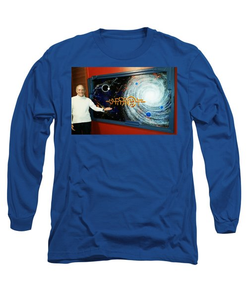 Long Sleeve T-Shirt featuring the painting The  Enigma  Painting by Hartmut Jager