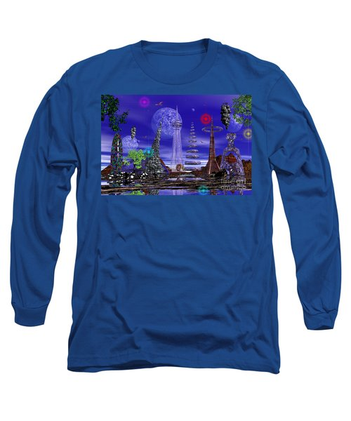 The Lakes Of Zorg Long Sleeve T-Shirt by Mark Blauhoefer