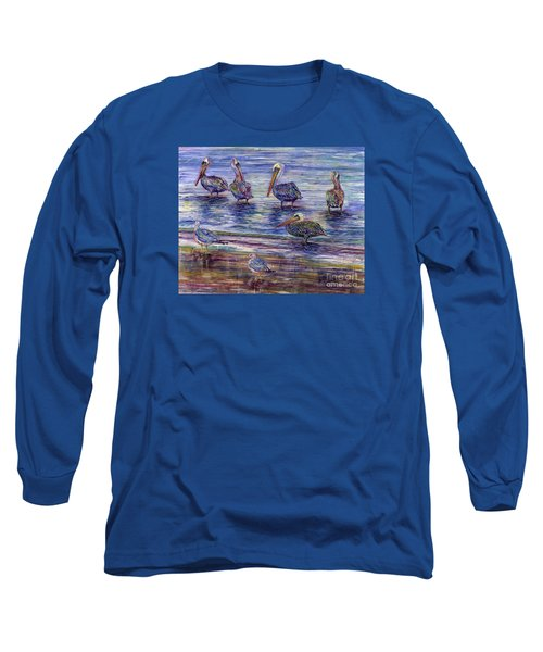 The Majestic Pelican Visit Long Sleeve T-Shirt