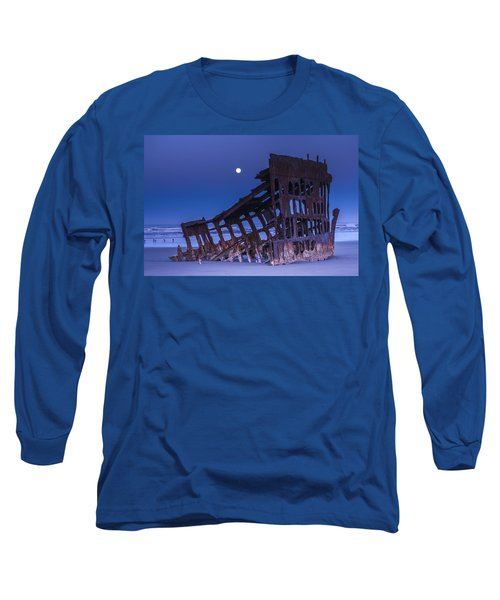 The Moon Sets Over The Wreck Long Sleeve T-Shirt