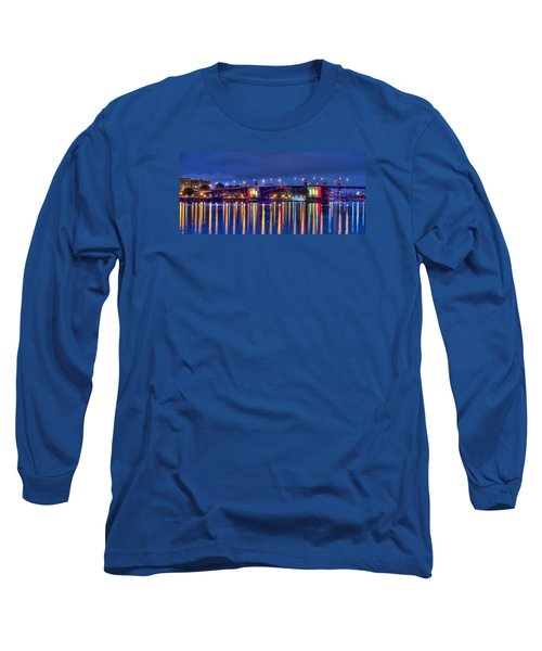 Long Sleeve T-Shirt featuring the photograph Morrison Bridge Reflections by Thom Zehrfeld