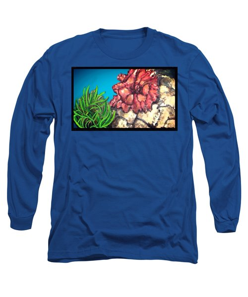 The Odd Couple Two Very Different Sea Anemones Cohabitat Long Sleeve T-Shirt by Kimberlee Baxter