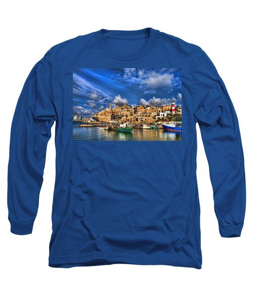 the old Jaffa port Long Sleeve T-Shirt by Ron Shoshani