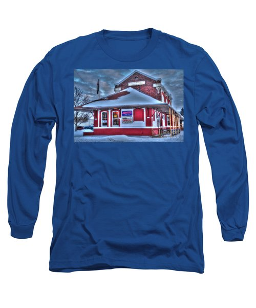 The Old Train Station Long Sleeve T-Shirt by Terri Gostola