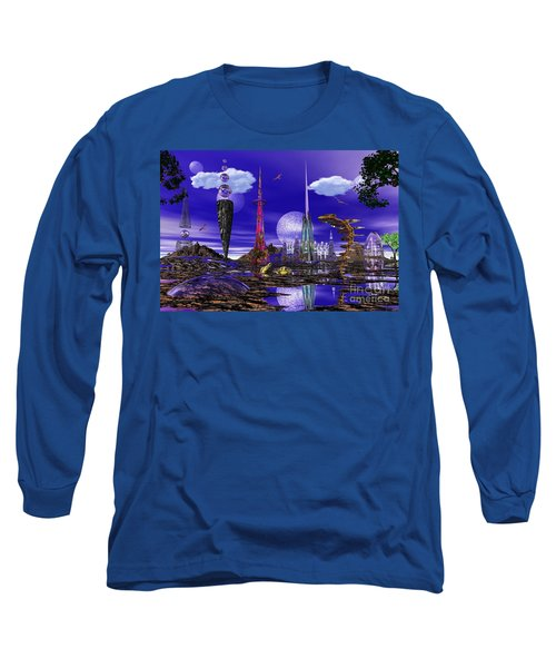 The Palace Of Prax Long Sleeve T-Shirt by Mark Blauhoefer