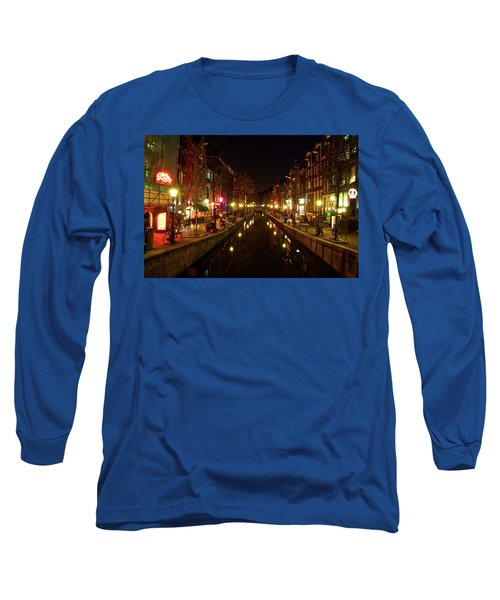 The Red Lights Of Amsterdam Long Sleeve T-Shirt