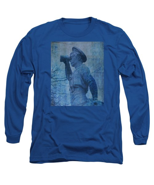 The Seaman In Blue Long Sleeve T-Shirt by Lesa Fine