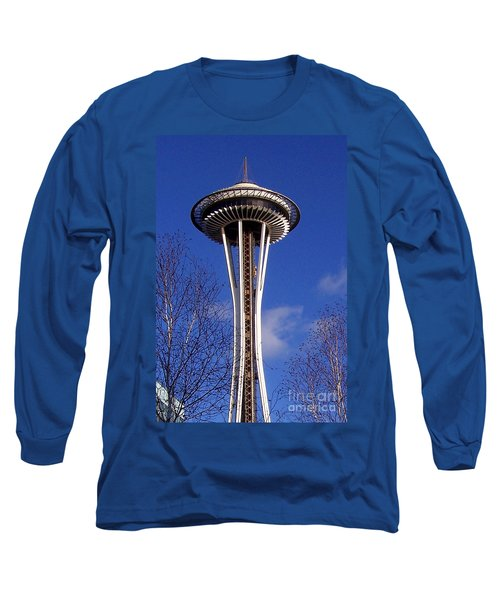 Long Sleeve T-Shirt featuring the photograph The Symbol Of Seattle by Kathy  White