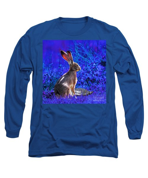 The Tortoise And The Hare . Blue Square Long Sleeve T-Shirt