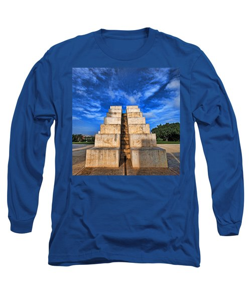 Long Sleeve T-Shirt featuring the photograph The White City by Ron Shoshani