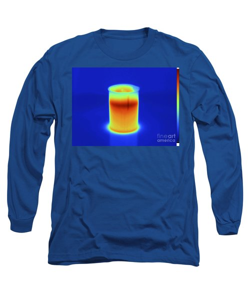 Thermogram Of Hot Water In Beaker Long Sleeve T-Shirt