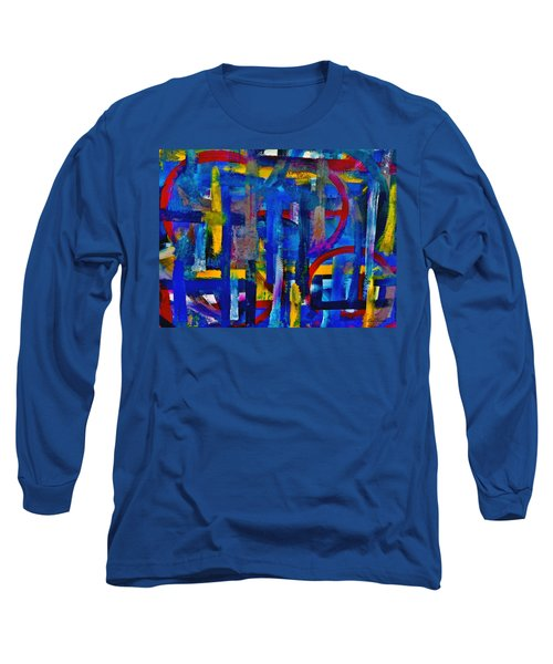 Long Sleeve T-Shirt featuring the painting Anchored In Art by Lisa Kaiser