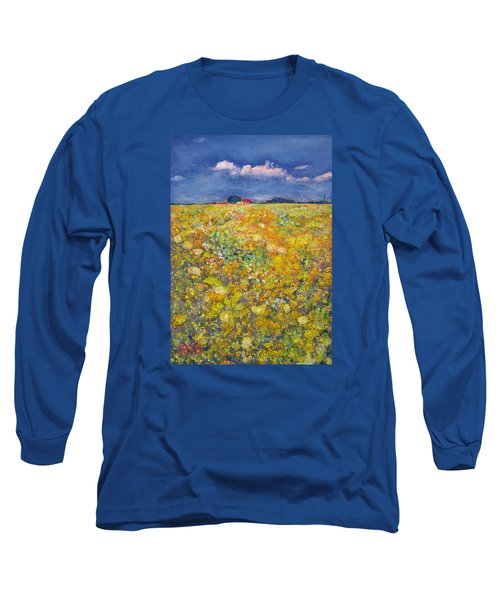 tiptoe Through Summer Meadow Long Sleeve T-Shirt by Richard James Digance