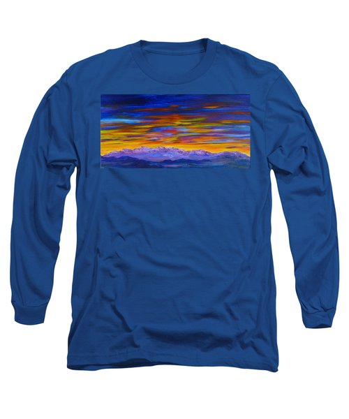 Tobacco Root Mountains Sunset Long Sleeve T-Shirt