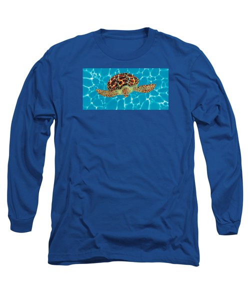 Caribbean Sea Turtle Long Sleeve T-Shirt