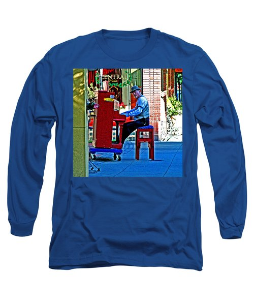 Traveling Piano Player Long Sleeve T-Shirt