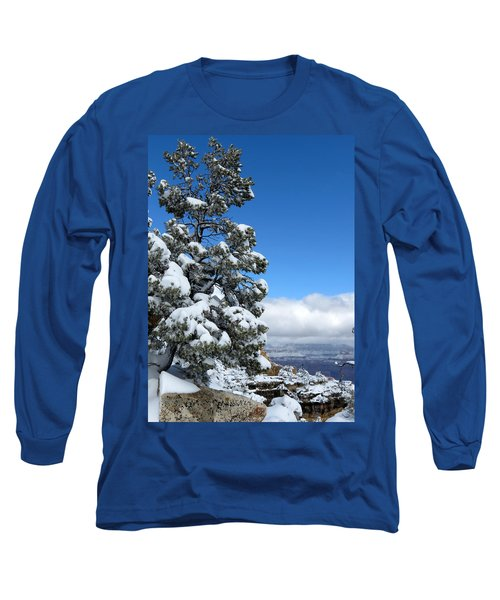 Tree At The Grand Canyon Long Sleeve T-Shirt by Laurel Powell