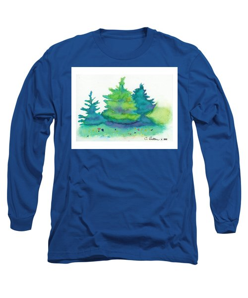 Trees 2 Long Sleeve T-Shirt by C Sitton