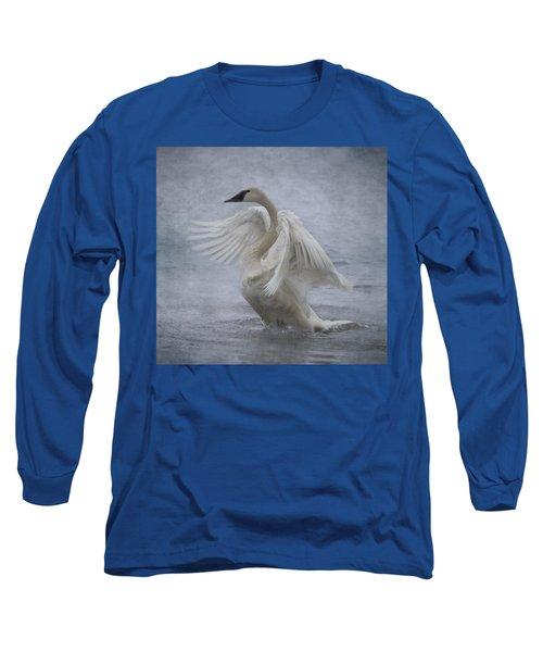 Trumpeter Swan - Misty Display Long Sleeve T-Shirt