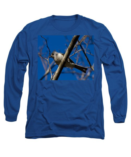 Tufted Titmouse Long Sleeve T-Shirt by Robert L Jackson