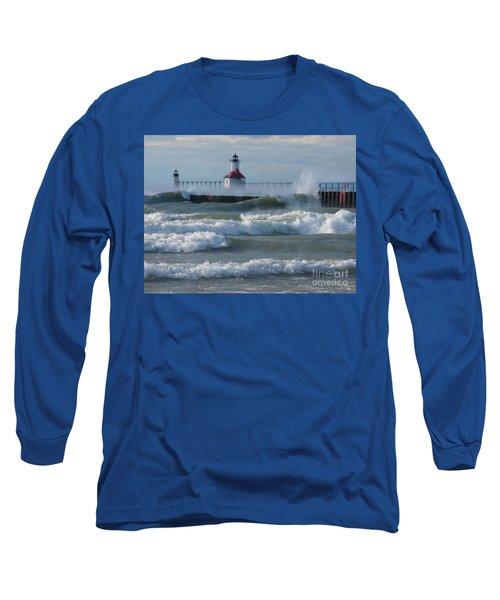 Tumultuous Lake Long Sleeve T-Shirt by Ann Horn