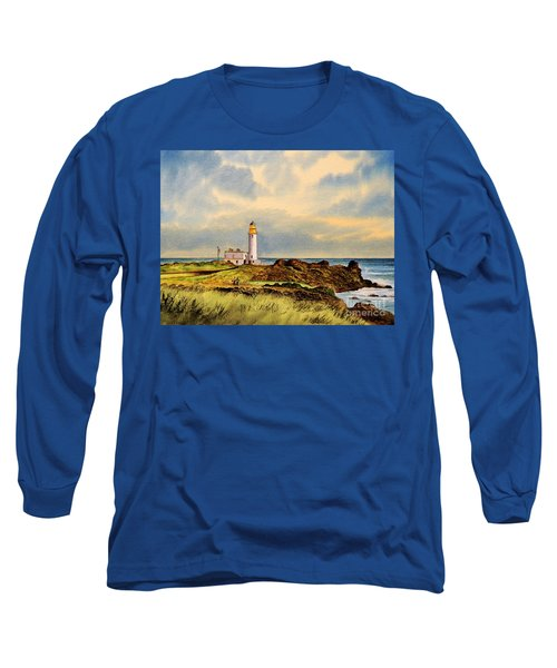 Turnberry Golf Course 9th Tee Long Sleeve T-Shirt by Bill Holkham