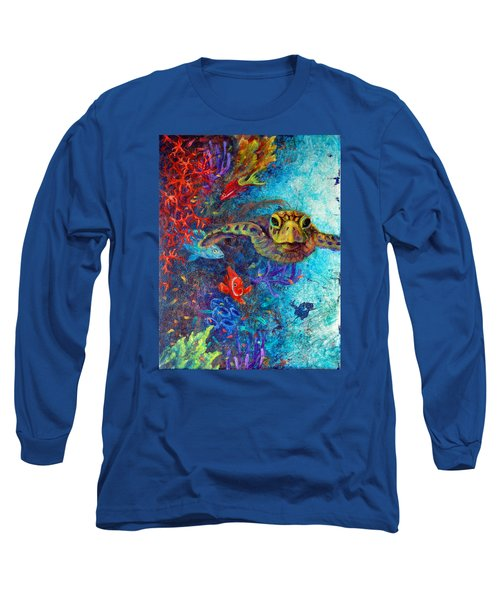 Turtle Wall 2 Long Sleeve T-Shirt by Ashley Kujan