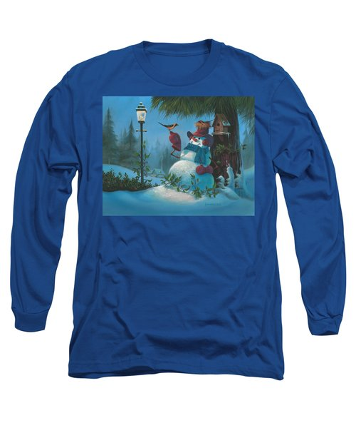 Long Sleeve T-Shirt featuring the painting Tweet Dreams by Michael Humphries