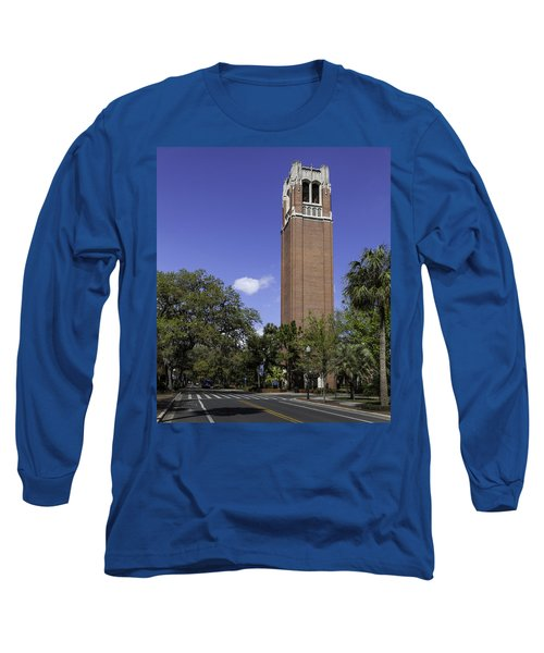 Uf Century Tower And Newell Drive Long Sleeve T-Shirt by Lynn Palmer
