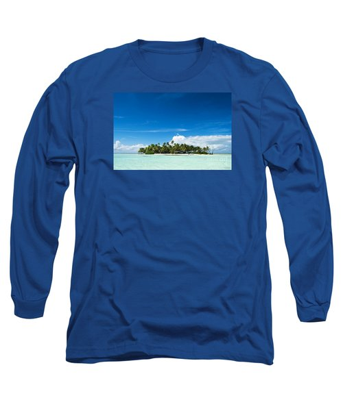 Uninhabited Island In The Pacific Long Sleeve T-Shirt by IPics Photography