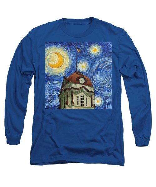 Van Gogh Courthouse Long Sleeve T-Shirt