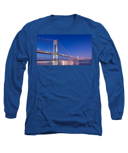 Verrazano Bridge Before Sunrise  Long Sleeve T-Shirt