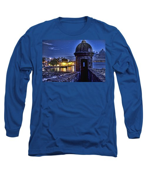 Viejo San Juan En La Noche Long Sleeve T-Shirt