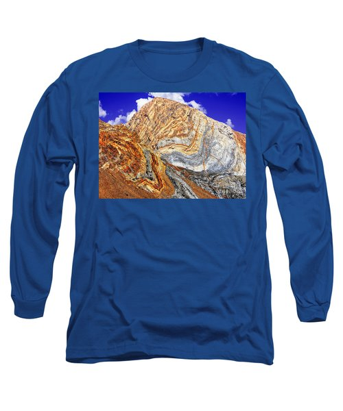 View Of Cliffs From Convict Lake Long Sleeve T-Shirt