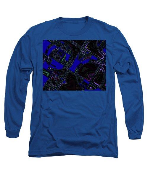 Long Sleeve T-Shirt featuring the digital art Vinyl Blues by Judi Suni Hall