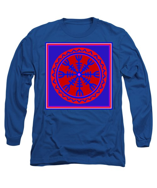 Long Sleeve T-Shirt featuring the digital art Voodoo Helm Of Awe by Vagabond Folk Art - Virginia Vivier