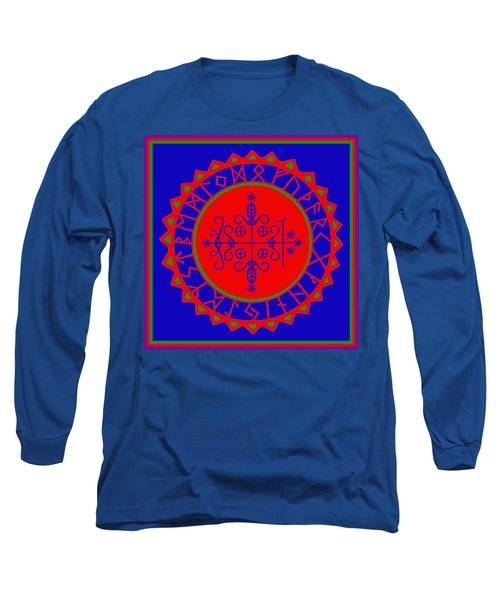 Long Sleeve T-Shirt featuring the digital art Voodoo Veve  As Above So Below by Vagabond Folk Art - Virginia Vivier