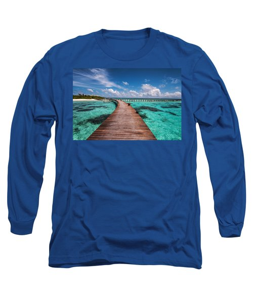 Walk Over The Water Long Sleeve T-Shirt by Jenny Rainbow