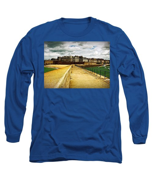 Long Sleeve T-Shirt featuring the photograph Walkway To Intra Muros by Elf Evans