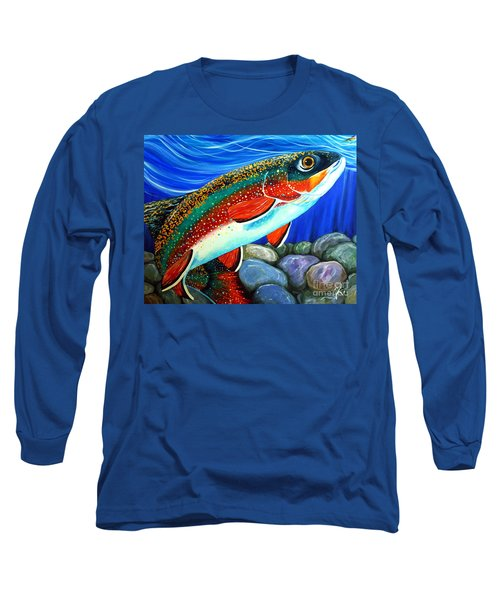 Brook Trout  Long Sleeve T-Shirt by Jackie Carpenter