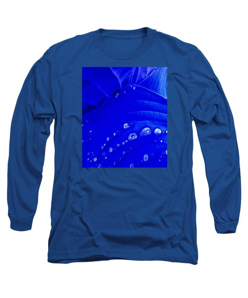 Water Droplets  Long Sleeve T-Shirt by Carolyn Repka