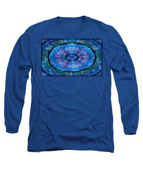 Water Round Long Sleeve T-Shirt by Kristin Elmquist