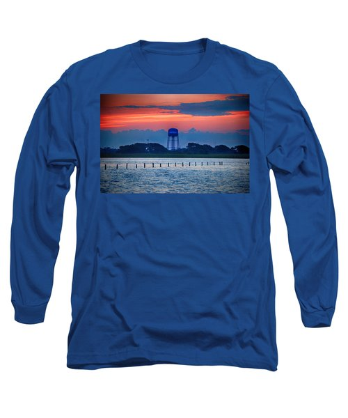 Long Sleeve T-Shirt featuring the digital art Water Tower by Michael Thomas