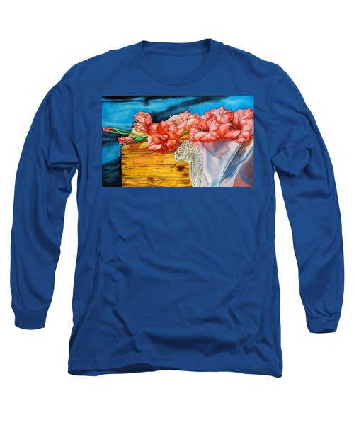 Watercolor Exercise Gladiolas Long Sleeve T-Shirt