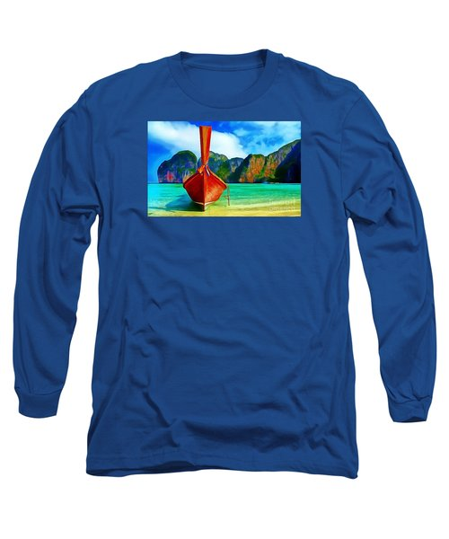 Watermarked-a Dreamy Version Collection Long Sleeve T-Shirt by Catherine Lott
